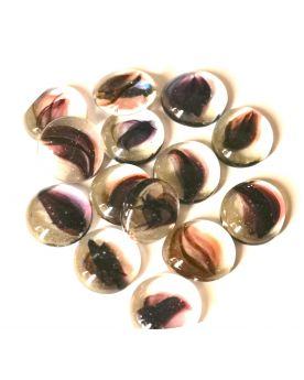 1 Flat Marble Polaire Plate 18 mm Flat Glass Marbles