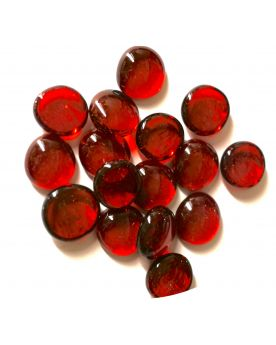 1 Flat Red Marble - 18 mm Glass Marble