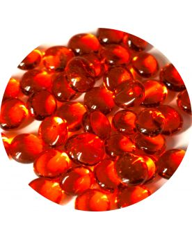 1 Mini-Bille Orange Loupe Billes plates en verre 12 mm