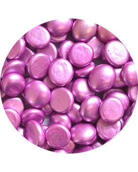 1 Flat pebble Pink Metallic - Glass marbles 16 mm - Flat marbles