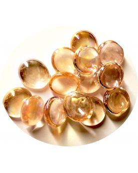 1 Flat Peach Light Marble - 18 mm Glass Marble