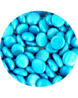 1 Flat pebble Blue Metallic - Glass marbles 18 mm - Flat marbles