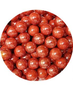 1 Small Red Glossy Marble - 14mm Glass Marble