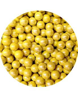 1 Small Yellow Glossy Marble - 14 mm Glass Marble
