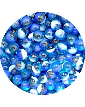 1 Little Marble Double Blue 14 mm Glass Marbles