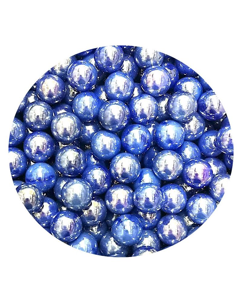 1 Little Blue Glossy Marble - 14 mm Glass Marble