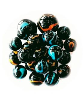 100 Black Glass Marbles - SOLIDAIRE