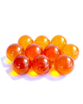 1 Bille Orange Flou - Billes en verre 16 mm