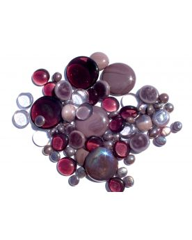 250 gr Mixing Purple Glass Pebble Flats Marbles 30 mm 20 mm 10 mm Decorative Glass Pebbles, St