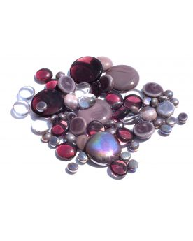 500 gr Mixing Purple Glossy Glass Pebble Flats Marbles 30 mm 20 mm 10 mm Decorative Glass Pebbles, St