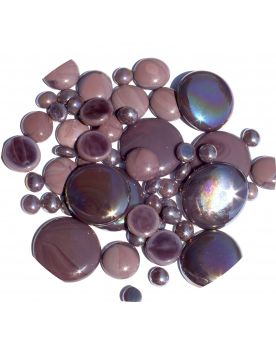 250 gr Mixing Purple Glossy Glass Pebble Flats Marbles 30 mm 20 mm 10 mm Decorative Glass Pebbles, St