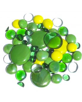 250 gr Mixing Green Glass Pebble Flats Marbles 30 mm 20 mm 10 mm Decorative Glass Pebbles, St