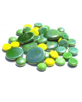 250 gr Mixing Green Glossy Glass Pebble Flats Marbles 30 mm 20 mm 10 mm Decorative Glass Pebbles, St
