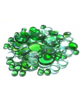 250 gr Mixing Green Transparency Glass Pebble Flats Marbles 30 mm 20 mm 10 mm Decorative Glass Pebbles, St