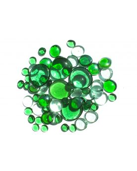 500 gr Mixing Green Transparency Glass Pebble Flats Marbles 30 mm 20 mm 10 mm Decorative Glass Pebbles, St