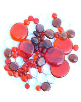 250 gr Mixing Orange Transparency Glass Pebble Flats Marbles 30 mm 20 mm 10 mm Decorative Glass Pebbles, St