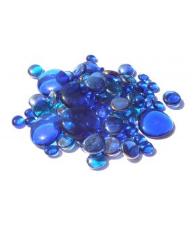 250 gr Mixing Blue-Night Transparency Glass Pebble Flats Marbles 30 mm 20 mm 10 mm Decorative Glass Pebbles, St