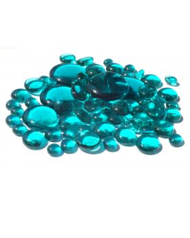 250 gr Mixing Intense Blue Glass Pebble Flats Marbles 30 mm 20 mm 10 mm Decorative Glass Pebbles, Stones Beads