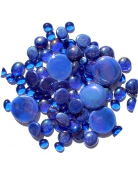 250 gr Mixing Blue-Night Glass Pebble Flats Marbles 30 mm 20 mm 10 mm Decorative Glass Pebbles, Stones Beads Ro
