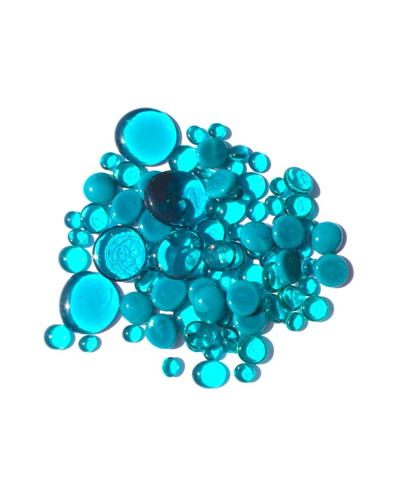 500 gr Mixing Blue-Duck Glass Pebble Flats Marbles 30 mm 20 mm 10 mm Decorative Glass Pebbles, Stones Beads Rou