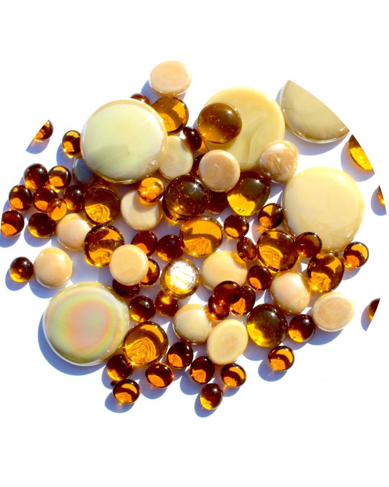 250 gr Mixing Amber 250 Glass Pebble Flats Marbles 30 mm 20 mm 10 mm Decorative Glass Pebbles, Stones Beads Rou