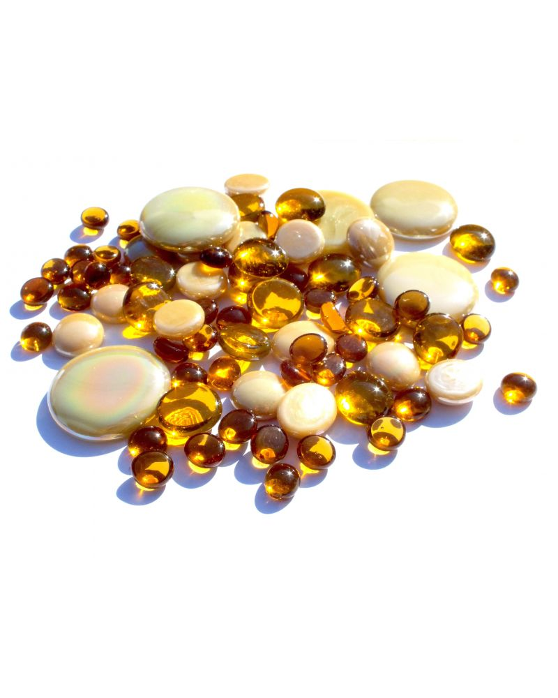 500 gr Mixing Amber Glass Pebble Flats Marbles 30 mm 20 mm 10 mm Decorative Glass Pebbles, Stones Beads Rounded