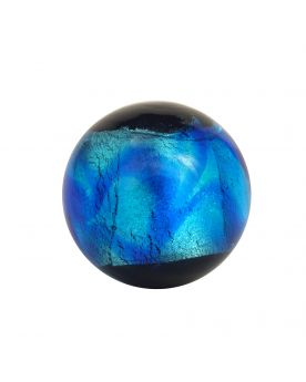 1 Bille d'art bleue Machu Picchu bleu - Bille d'art en verre 16 mm