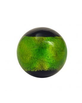 1 Green Glass Art Marble Machu Picchu 20 mm