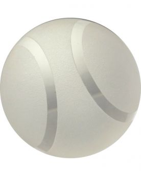 1 Frosted Tennis Art Glass Marble 50 mm