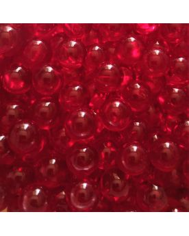 1 Mini Red Lens Marble - 8 mm Glass Marble