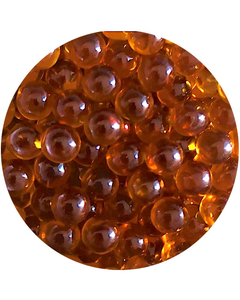 1 Small Amber Lens Marble - 8 mm Glass Marble