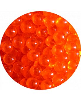 1 Mini Bille Loupe Orange - Bille en Verre 8 mm