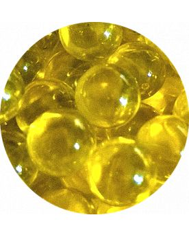 1 Mini Bille Loupe Jaune - Bille en Verre 8 mm
