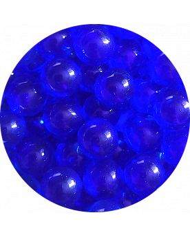 1 Mini Dark Blue Lens Marble - 8 mm Glass Marble