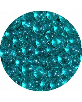 1 Mini Intense Blue Lens Marble - 8 mm Glass Marble