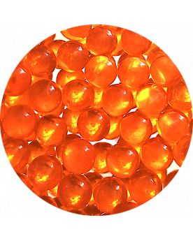 1 Mini Bille Loupe Orange - Bille en Verre 10 mm