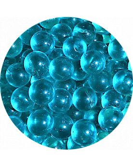 1 Mini Intense Blue Lens Marble - 10 mm Glass Marble