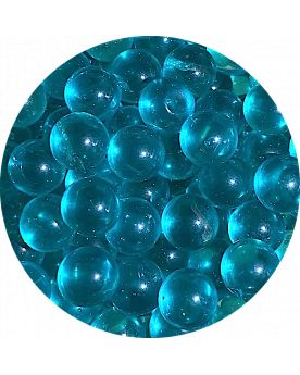 1 Small Intense Blue Lens Marble - 12 mm Glass Marble
