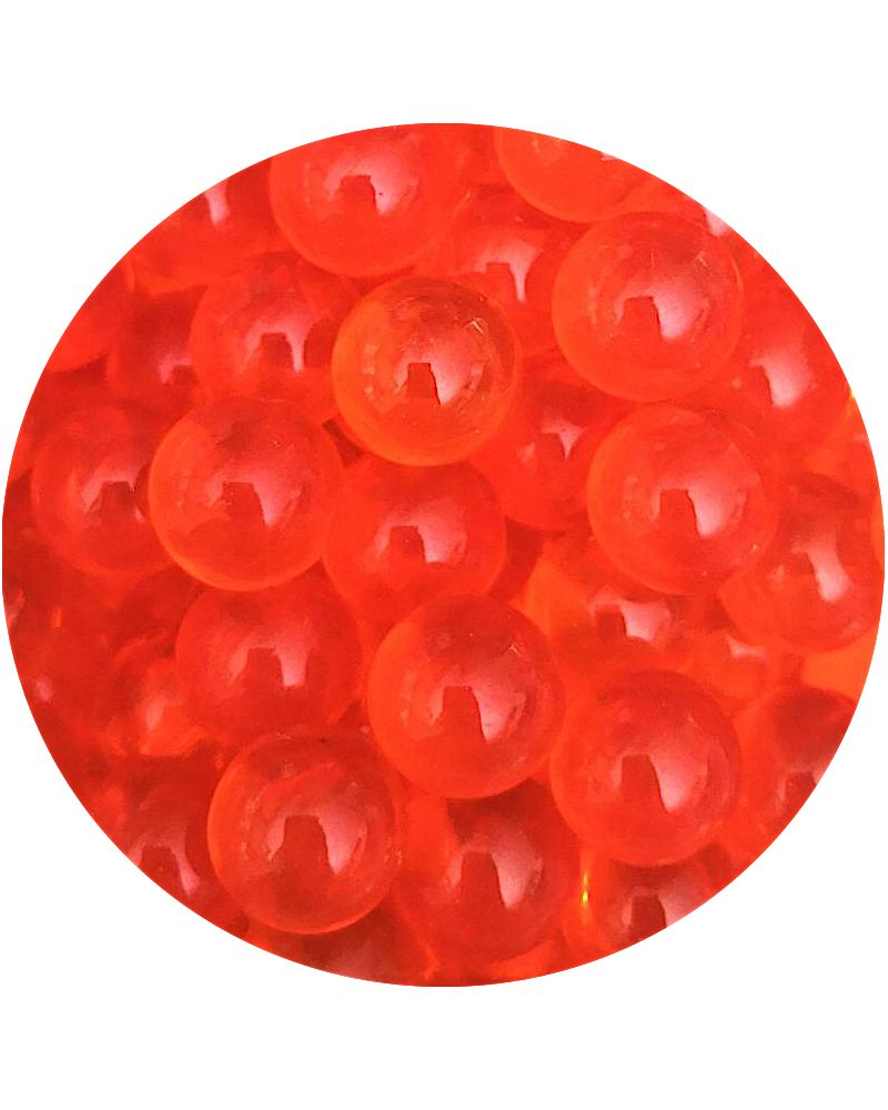 1 Small Orange Lens Marble - 12 mm Glass Marble
