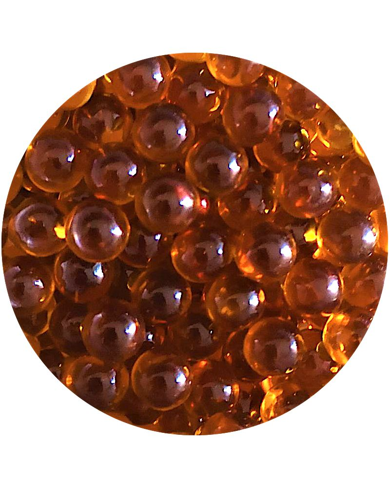 1 Mini Amber Lens Marble - 10 mm Glass Marble
