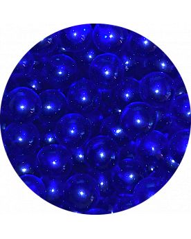 1 Mini Dark Blue Lens Marble - 10 mm Glass Marble