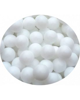 1 Mini White Pearl Glass Marble 10 mm