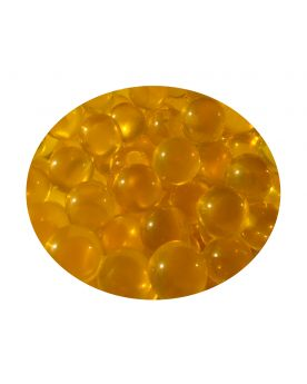 1 Small Yellow Lens Glass Marble 12 mm