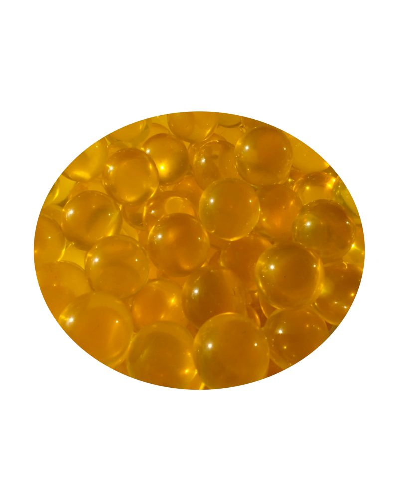 1 Mini Yellow Lens Glass Marble 10 mm