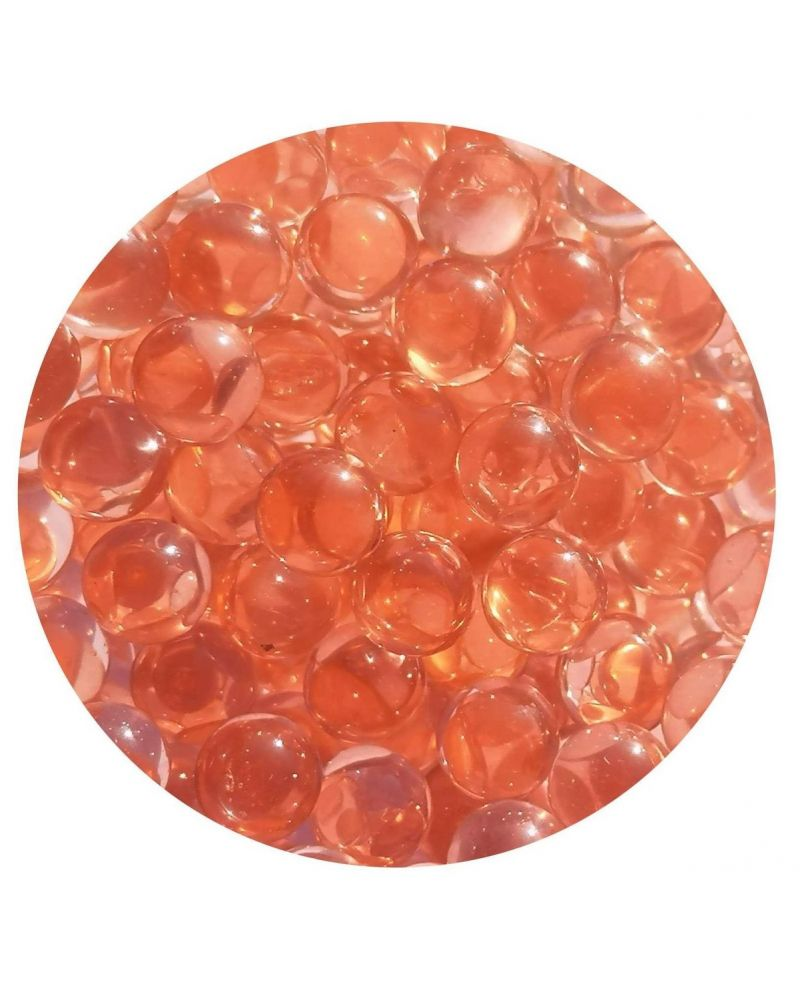 1 Mini Pink Lens Glass Marble 10 mm