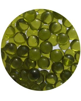 1 Mini Yellow Green Lens Glass Marble 10 mm