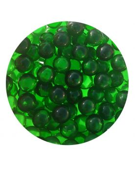 1 Mini Emerald Green Lens Glass Marble 10 mm