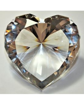 1 Diamond Heart Art Glass Marble 88 mm