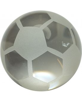 1 Frosted Football Art Glass Marble 50 mm