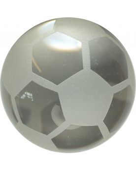 1 Frosted Football Art Glass Marble 40 mm